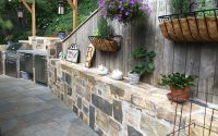 Dabah Landscape Designs Associates LLC – Fully Equipped Stone Kitchen and Patio Spaces